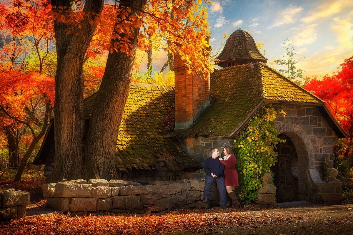 Here is a quick one from today's session at Skylands Manor with Stephanie and Joe getting married next november